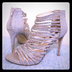 Glittery Strappy Heels